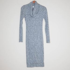 Sans Souci Grey Cowl Neck Dress